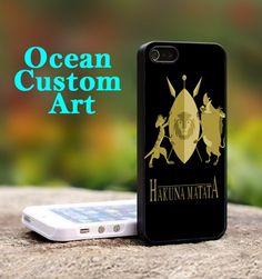 Hakuna Matata symbols  - Print on Hard Cover iPhone 5 Black Case