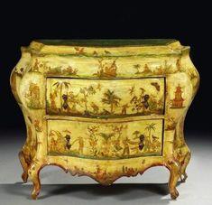 Commode vénitienne du miiieu du XVIIIème siècle. photo Artcurial