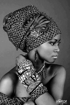 Beautiful African wrap and bangles