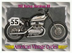 American Vintage Cycles Series I # 19 - 1961 Harley-Davidson KR - Champ 1992