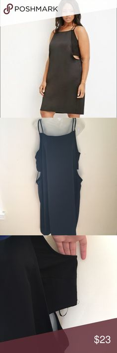 Forever 21 Plus Cutout Layered Cami Dress NWT Forever 21 Plus Cutout Layered Cami Dress NWT  Bralette portion is separate and there are cutouts below it. Knee length dress with two spaghetti straps. Size 3X ||B  Length: 40 inches  Waist: 25 inches Pit to pit: 21 inches (measurement of the bralette) Forever 21 Dresses