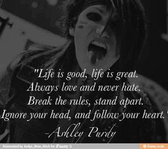 Ashley Purdy <3333333333333333 I was watching a bvb video and I saw Ashley and then I hit my friend and said there's my hubby he got mad cause I hurt him cry baby Phss :p