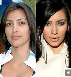 Hollywood Stars Kim Kardashian without maquillage