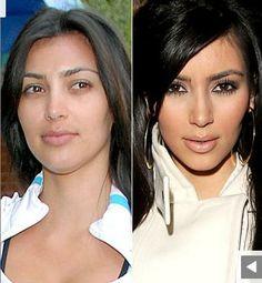 Hollywood Stars Kim Kardashian without maquillage