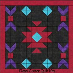 Sewing Block Quilts Navajo Indian Southwest Design Easy to Make Pre-Cut Fabric Quilt Block . Star Quilts, Mini Quilts, Quilt Blocks, Quilt Kits, Motif Navajo, Navajo Pattern, Southwestern Quilts, Southwest Style, Indian Quilt