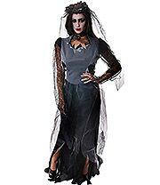 Zombie Widow Fancy Dress Costume
