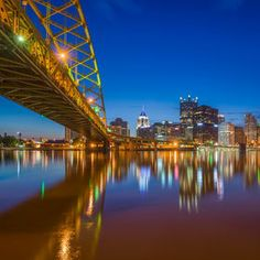 This is a view of the Pittsburgh skyline from underneath the Ft. Pitt Bridge By Dave DiCello | 500px