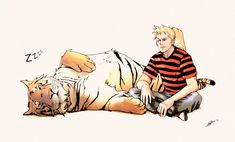 This is so cool. If you can't figure it out, non-believer, it's Calvin and Hobbes. =P