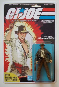 Custom Carded Indiana Jones 3 3 4 Gi Joe Vintage Style ARAH Action Figure | eBay
