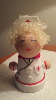 Nurse out of clay pots