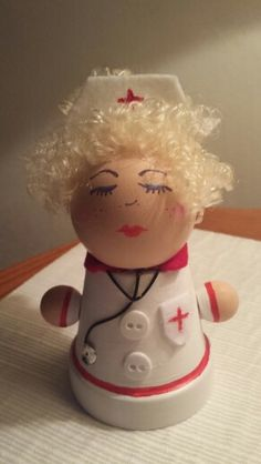 Nurse out of clay pots