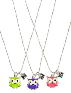 Bff Owl Necklaces | Girls Jewelry Accessories | Shop Justice