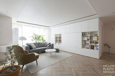 ideas house dream rooms bookshelves for 2019 French Apartment, Apartment Interior, Living Room Interior, Home Interior Design, Modern Countertops, Dream Rooms, Home And Living, Living Area, Home Remodeling