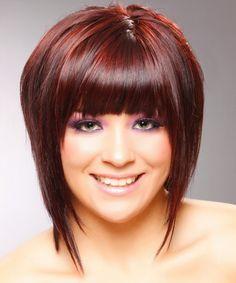 Medium Bob Hairstyle - Straight Casual - Medium Red   TheHairStyler.com