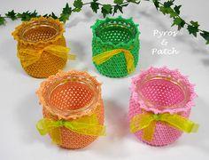 cachepot covered crochet  cachepot rivestiti di PyrosePatch