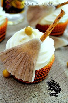 Butterbeer Cupcakes. Not normally a fan of box mixes, but might be willing to try this.