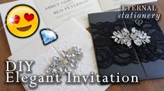 How To Diy Wedding Invitations . How To Diy Wedding Invitations How To Make An Elegant Gatefold Wedding Invitation Diy Invitations Embossed Wedding Invitations, Free Wedding Invitation Samples, Create Wedding Invitations, Homemade Wedding Invitations, Handmade Invitations, Elegant, Flower Invitation, Invitation Cards, Invites