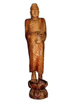Shop online for Gautama Buddha going for Arms Round Statue. Portrays the compassion and the dedication of Buddha to teach the teaching to end the suffering. Only one statue of this kind in the world. Gautama Buddha, Local Artists, Sri Lanka, Statues, Art Pieces, Sculptures, Arms, Arm, Effigy