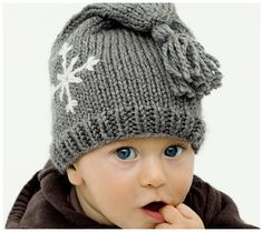 Warm Winter Hats: 20 Adorable DIY & Handmade Options for Baby Baby Hat Knitting Pattern, Baby Hats Knitting, Knitting For Kids, Knitted Hats, Baby Boy Outfits, Kids Outfits, Blue Eyed Baby, Baby Winter Hats, Knit Crochet