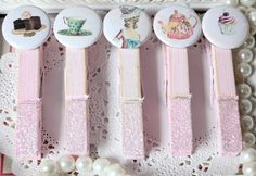 Marie Antoinette Party Decorations | Marie Antoinette Tea Party ClothesPins Shabby by thecottagemarket