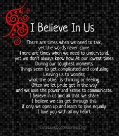I Believe In Us