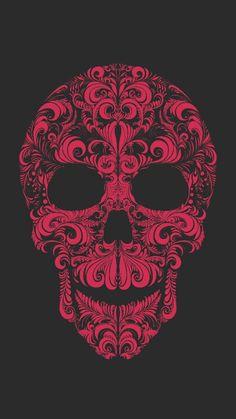 Pin de max carrera em cráneo skull art, skull e skull wallpa Skull Wallpaper, Pattern Wallpaper, Wallpaper Backgrounds, Wallpapers, Gothic Wallpaper, Skull Artwork, Skull Illustration, Skeleton Art, Joker Art