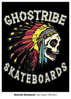 Ghostribe Skateboards logo, Adobe Illustrator