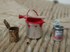 CASAS DE MUÑECAS-(TALLER) - Making tins for food or paint - Spanish