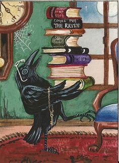 Heavy reading for the studious bird!