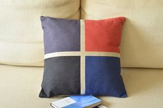 """1 handmade linen cotton four color printed  Field style  pillow cove / cushion case 18"""" on Etsy, $15.70 AUD"""
