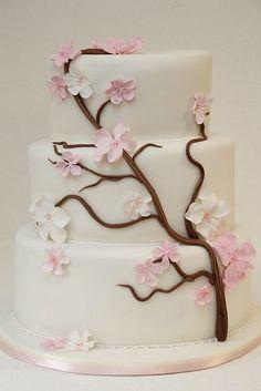 v 3-stöckige Hochzeitstorte Kirschblüten | Flickr - Photo Sharing!