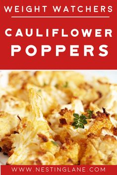 Weight Watchers Sides, Weight Watcher Dinners, Cauliflower Poppers, Baked Cauliflower, Weight Watchers Vegetarian, Poppers Recipe, Vegetarian Recipes, Healthy Recipes, Chili Powder