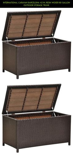 International Caravan Barcelona 42 in. Resin Wicker 80 Gallon Outdoor Storage Trunk #products #kit #plans #shopping #fpv #camera #42 #drone #gadgets #racing #storage #parts #tech #technology