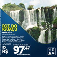 """As informações refentes a este pacote são válidas no período da promoção. Verifique as datas do mesmo antes da veiculação. ______      Esta é sua chance de conhecer uma das """"Sete Maravilhas Naturais do Mundo"""" em um pacote que oferece passeio pelas Cataratas do Iguaçu e Parque das Aves, assistência de guia e muito mais! Não vai perder essa mega oferta, né? http://www.clubeturismo.com.br/site/pacote.php?id_pac=132"""
