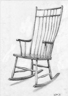 rocking chair sketch - Google Search