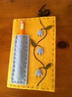 "Felt 5 1/2"" x 3 1/2"" Moleskine notebook cover 