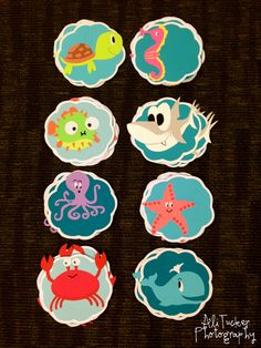 THESE ARE PERFECT I want to do an under the sea theme for my floor SO BADLY!  My under the sea themed door decs (before adding names)! :) #reslife #doordecs