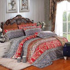 LUXURY boho DUVET COVER set DOONA comforter bedspread sheet POTTERY MOSAIC print[King]