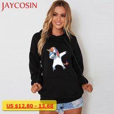 JAYCOSIN SIF 2018 Women Autumn Winter Soft Long Sleeve Hooded Unicorn Print Hoodies Sweatshirt Pullover Tops Drop Shipping fwj
