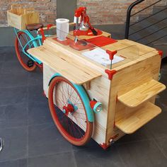 Maintaining Your Bicycle Chain Coffee Carts, Coffee Truck, Coffee Shop, Food Truck, Vendor Cart, Bicycle Cart, Bike Food, Food Cart Design, Coffee Trailer