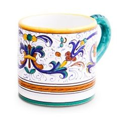 Mug,This beautiful Ricco Deruta design, is an interpretation of an original 16th century pattern. It has been Biordi's undisputed best selling pattern for the past 60 years.