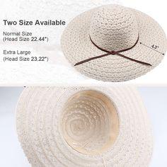 Summer Beach Sun Hats For Women - FURTALK UPF Woman Foldable Floppy Travel  Packable UV Hat Cotton d3e43f3551bf