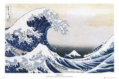 Katsushika Hokusai- velká vlna u pobřeží kanagawy  - Plakát, Obraz na Posters.cz