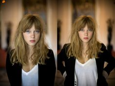 is pretty much how my hair looks when I let it grow.It looks so good on her. Messy Hairstyles, Pretty Hairstyles, Straight Hairstyles, Fashion Hairstyles, Lea Seydoux Adele, Langer Pony, Hair Affair, Hair Today, Hair Dos