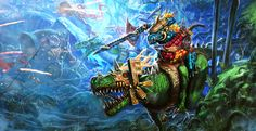 SAURUS KNIGHT #ageofsigmar #warhammer #art #fantasy #aos #gamesworkshop #Seraphon
