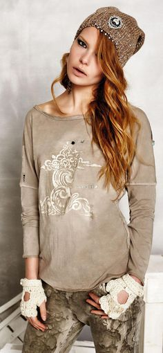 Elisa Cavaletti Tunic Long Sleeve Shirt T M L XL XXL ELW155068514 2 Colours