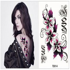 2017 Hot New Design Flash Tattoo Flowers Style Temporary Tattoo Sticker Sex Products Removable Waterproof Tattoo Body Stickers #Affiliate