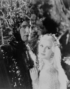 Anita Louise as Titania poses with Victor Jory as Oberon in A Midsummer Nights Dream (1935)