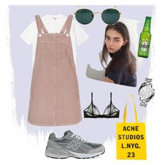 """Ros16"" by klara-engholm on Polyvore featuring Topshop, Michael Kors, New Balance, STELLA McCARTNEY, Acne Studios and Ray-Ban"