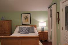 Guest Room - Benjamin Moore Van Alen Green- love this color! Decor, Living Room, Basement Guest Rooms, Room, Home Bedroom, Bedroom Green, Green Paint Colors, Bedroom Inspirations, Guest Room
